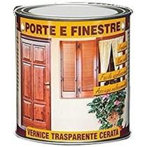 Veleca Vernice Trasparente Cerata Porte E Finestre Ml.750